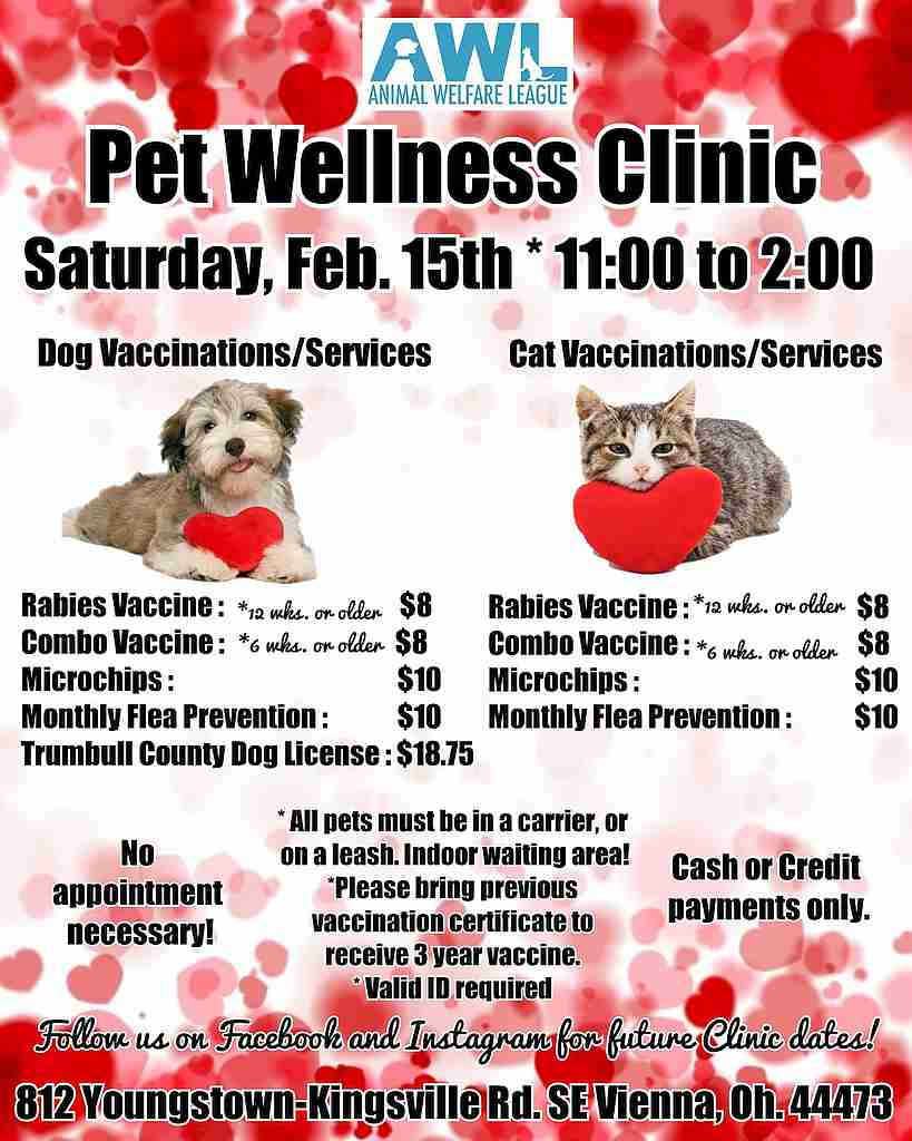 Pet Wellness Clinic Animal Welfare League Of Trumbull County Inc